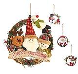 YZCX 4 Pezzi Ghirlanda Natalizia Ornamento di Albero di Natale Ghirlanda Porta d'ingresso Decorazioni Natalizie