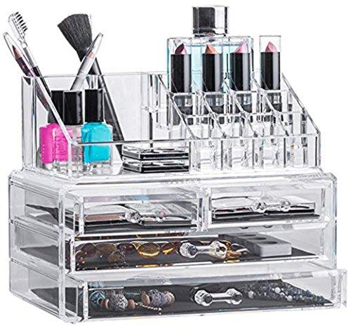 Solly´s ANNA Aufbewahrungsbox für Make Up und Schmuck, Kosmetik Organizer aus Acryl,...