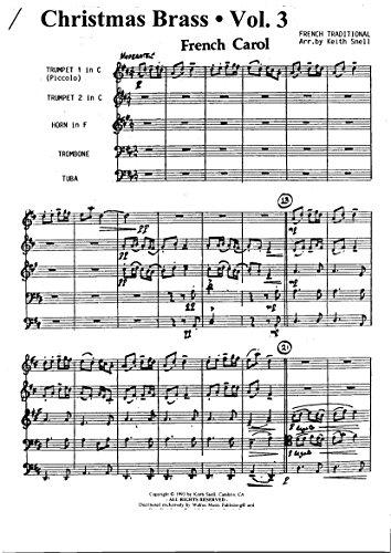 Traditionelle Weihnachtslieder.Christmas Brass Vol 3 3 Traditional Christmas Carols For Brass Quintett 3 Traditionelle Weihnachtslieder Für Blechbläserquintett Partitur Und