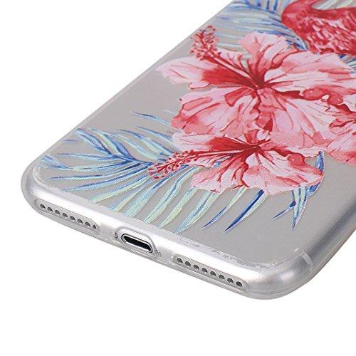 Cover Soft per iPhone 7 Plus / 8 Plus, Asnlove Morbida Caso Ultra Sottile TPU Gomma Gel Custodia Motif di Colore Cassa Antiurto TPU Silicone Trasparente Case Posteriore, Fenicotteri - Colore 5 Colore 2
