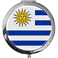 "metALUm - Extragroße Pillendose in runder Form""Flagge Uruguay"" preisvergleich bei billige-tabletten.eu"