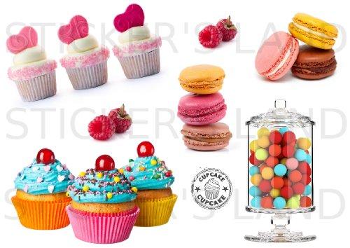 STICKER'S LAND Chocolat et de pâtisserie Stickers décoratifs...