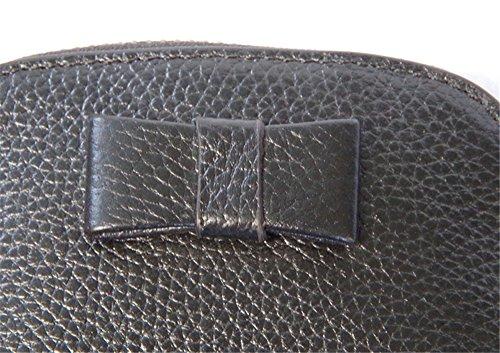 Swallowuk Donna Portafoglio In Pelle Bow-knot Bella Carta Pacchetto Borsa Casuale (Pink) Nero