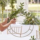 Vanharte Hula Hoop - Set di 3 Anelli Decorativi in Rame, Colore: Oro Rosa