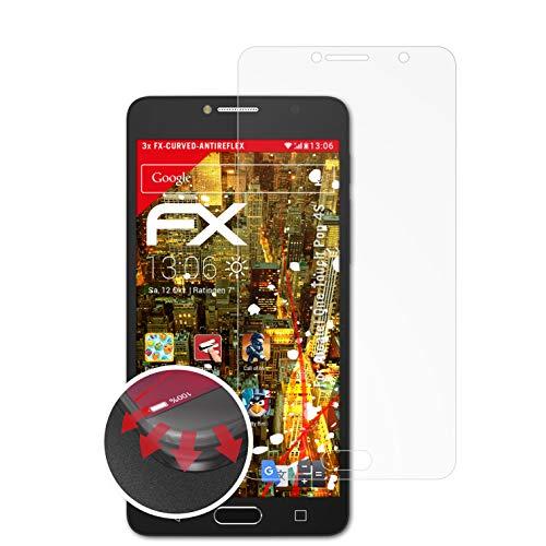 atFolix Schutzfolie passend für Alcatel One Touch Pop 4S Folie, entspiegelnde & Flexible FX Bildschirmschutzfolie (3X)