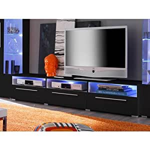 meuble tv led blanc gloss dona cuisine maison. Black Bedroom Furniture Sets. Home Design Ideas