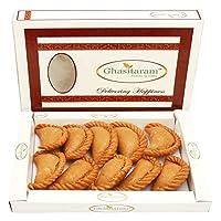 Ghasitaram Gifts Holi Sweets-Ghasitaram's Dry Sweet Wheat Gujiya 300 GMS