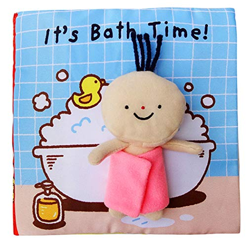 Xiaoyu libri morbidi per Neonati, baby book per attività soft, giochi educativi per ragazzi e ragazze, attività touch e feel, bagno