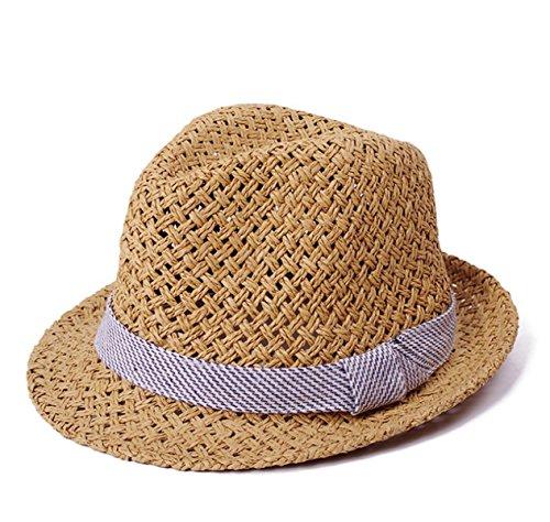 Hommes Coréens Mme été Chapeau De Haute Qualité Chapeau De Jazz Creux Chapeau Angleterre Chapeau De Plage brown