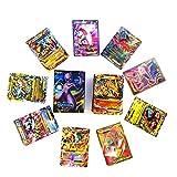 (80EX+20MEGA)100 Pokemon Cards Pokemon EX MEGA Flash Card Trading Puzzle Fun Card Game