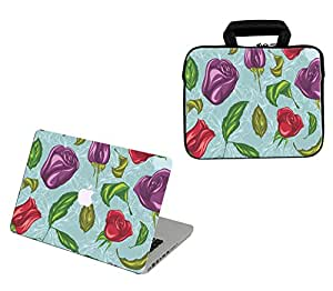 Theskinmantra 2 in 1 Combo : Laptop sleeve with Zip and Handle & Laptop Skin for Apple MacBook Pro 13