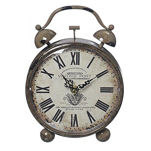 Reloj Despertador de Mesita Vintage Port con Numeros Romanos