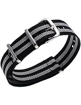 20mm Herren Damen Nato Nylon Mischefarb Uhren-Armband Uhrenarmbänder Uhrband Watch Band Watch Strap Uhr Unisex...