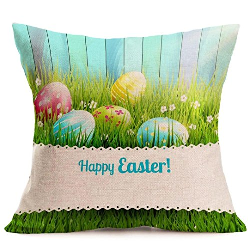 DEFFWB Pillow Cases, Clearance! Easter Sofa Bed Home Decoration Festival Pillow Case Cushion Cover (M)
