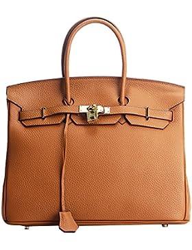 222fb02dfce65 Menschwear Damen Echtes Leder Handtasche Elegant Taschen 25cm