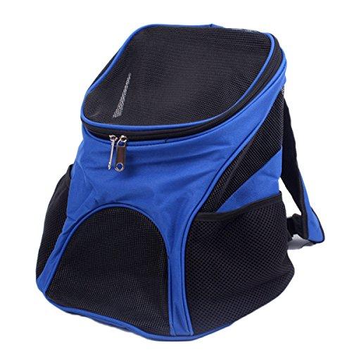 nihiug Mochila para Mascotas Paquete De Mascotas Rejilla Transpirable Oxford Tela Estuche para Transporte Mochila para Perros Bolsa De Viaje para Mascotas,Blue-34 * 23 * 34cm