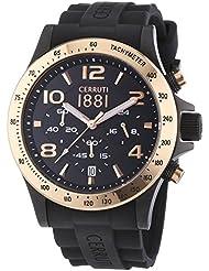 Cerruti 1881 Herren-Armbanduhr XL CARRARA Analog Quarz Silikon CRA101D224G