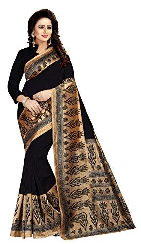 Saree(clothsfab Saree For Women Party Wear Half Multi Colour Printed Sarees Offer...