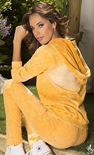 Gilet capuche TALULA Flashy Body One Orange