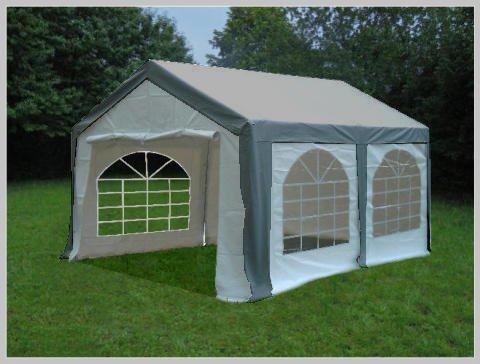 Pavillon Pavillion Festzelt Partyzelt Modular Pro PE 3x4 4x3 3x4m 4x3m MIT Fenster grau