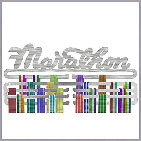 Marathon plus Triple Tier Medal Display Combination Stainless Steel