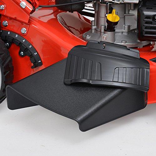 HECHT Benzin-Rasenmäher 548 SW Benzin-Mäher (Schnittbreite 46 cm, 60 Liter Fangkorbvolumen, 7-fache Schnitthöhenverstellung 25-75 mm, Radantrieb) -