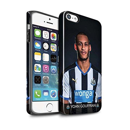 Officiel Newcastle United FC Coque / Brillant Robuste Antichoc Etui pour Apple iPhone SE / Pack 25pcs Design / NUFC Joueur Football 15/16 Collection Gouffran