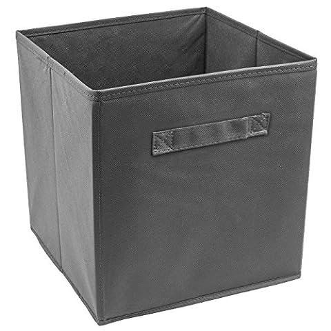 Sorbus Boîte de rangement pliable en forme de cube, Gris, 1