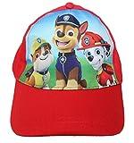 Paw Patrol Cap Kappe Schirmmütze (54, Rot)