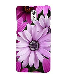 Fuson Designer Back Case Cover for Lenovo Vibe P1M :: Vibe P1m (pink Flowers Purple Flowers Thick Flowers Beautiful Flowers Nice Flowers)