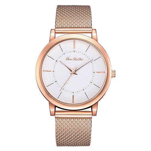 Uhren Damen Simple Fashion Damenuhr Mesh mit Quarzuhr Frauen Stahl Armbanduhr Exquisit Uhr Sport Uhren Elegente Quarz Analoge Armbanduhr Uhrenarmband Watch,ABsoar