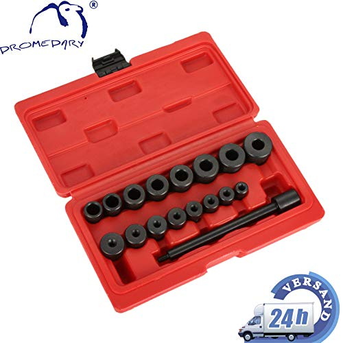 Dromedary 17tlg Universal Kupplung Zentriersatz Zentrierdorn Werkzeug Zentrierwerkzeug KFZ Einstellwerkzeug Set