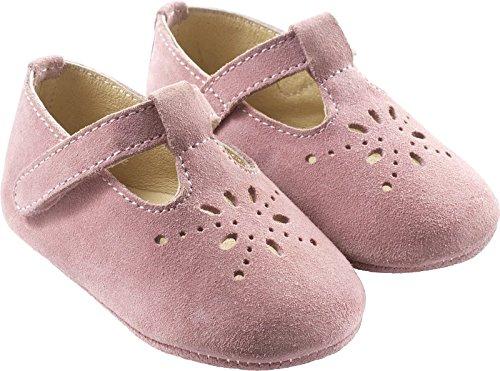 aa534fec8f960 Tichoups Chaussures bébé cuir souple Salomé rose