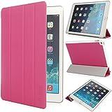 iHarbort® iPad Air 2 Hülle - Ultra Slim Leder Tasche Hülle Etui Schutzhülle Ständer Smart Cover Case für iPad 6 Generation , mit Schlaf / Wach-up-Funktion (iPad Air 2, Rosa)