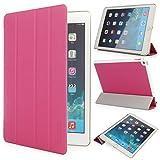 iHarbort iPad Air 2 Hülle - Ultra Slim Leder Tasche Hülle Etui Schutzhülle Ständer Smart Cover Case, mit Schlaf/Wach-up-Funktion (iPad Air 2, Rosa)