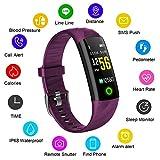 Fitness Trackers,LIGE Pulsmesser Intelligentes socken Aktivitäts Tracker Bluetooth Schrittzähler mit Schlafüberwachung Kalorienzähler Smartwatch für Android oder iOS Smartphones für Erwachsene Kinder