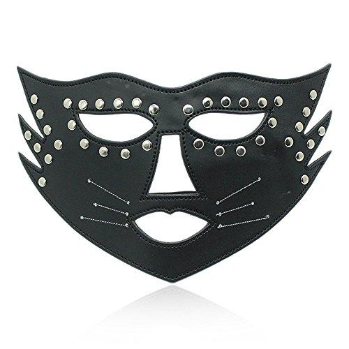 Masken Gesichtsmaske Gesichtsschutz Domino falsche Front Maskiert Königin Maske Leder Maske Brille G