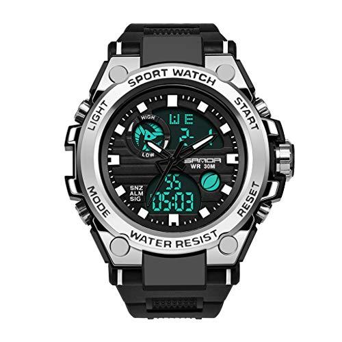 friendGG Uhren Sanda Herren Sportuhr Dual Display Analog Digital Led Elektronische Armbanduhren Uhren Herrenuhren