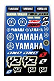 KIT STICKERS ADESIVI COMPATIBILI PER YAMAHA YZ YZF SPONSOR MOTO CROSS ENDURO CASCO (65)