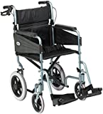 Patterson Medical 338-S Escape Lite Wheelchair with 46 cm Seat Width - Silver Blue