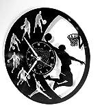 Horloge Murale en Vinyle Cadeau Fait Main Décorations Pour la Maison Home Office Sport NBA Basketball