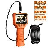 Rotek Caméra d'inspection Numérique, Ecran LCD Full HD IPS de 3,0 Pouces 1080P, Caméra d'endoscope Industrielle de 3,0 Mégapixels 6 LED Borescope Vidéo - 5 Mètres