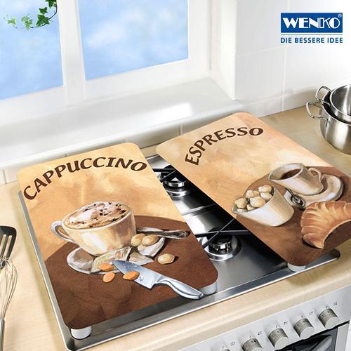 wenko 2521280100 herdabdeckplatte universal kaffee 2er. Black Bedroom Furniture Sets. Home Design Ideas