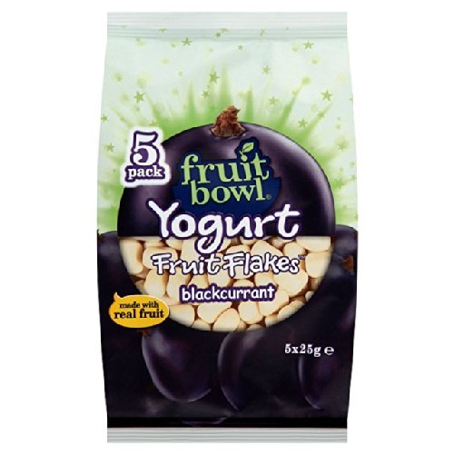 Fruit Bowl Yogurt Blackcurrant Fruit Flakes 5 x 25g