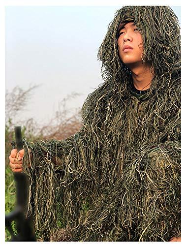 dschungel kleidung ZHhome Camouflage Camo Kleidung, 3D Kleidung, Geeignet für Sniper Ambush Woodland Military Armee Schießen Jagd Fotografie, Dschungel Farbe, Kind Erwachsene Optional (größe : Adult Models 160-190CM)