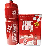 Nutrisport Sport Drink ISO + Bidón 750 ml 6 sobres x 45 gr - Limón