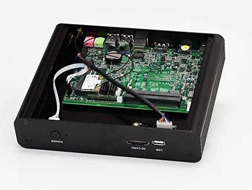 Kingdel® Mini Desktop Computer, 4K Mini PC with Intel 7th Gen. i7 CPU, 16GB RAM, 128GB SSD+1TB HDD, 4096×2304, HDMI, DP, 4*USB 3.0, Card Reader, WiFi, Metal Case, Windows 10 Pro Online