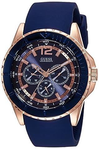 Guess - W0485G1 - Montre Homme - Quartz - Chronographe - Bracelet Silicone Bleu