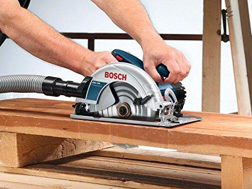 Bosch Professional Handkreissäge GKS 190 (mit 1 Sägeblatt 190 mm, 70 mm Schnitttiefe, 1,400 W) blau, 0601623000 - 3