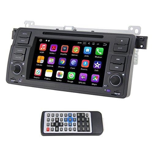QSICISL Single Din Android 7,1 for BMW E46 7 zoll In Dash HD Touchscreen Auto DVD multimedia Video Player GPS Navigation Stereo mit eingebautem WIFI Modem unterstützung 4G/Bluetooth/Hotspot/SD/USB